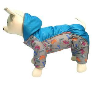 Комбинезон для собак Osso Fashion, размер 25, серый/бирюзовый