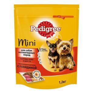 Корм для собак Pedigree Vital Protection Mini, 1.2 кг, говядина