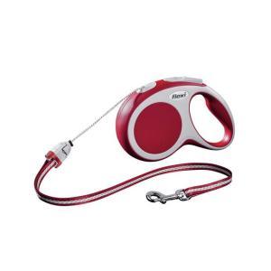 Поводок-рулетка для собак Flexi Vario Cord S, красный
