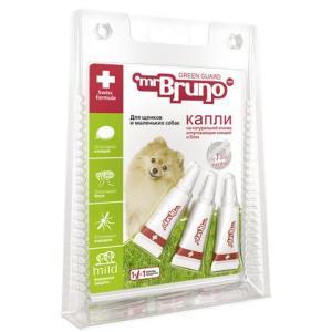 Капли для щенков и маленьких собак Mr. Bruno Green Guard