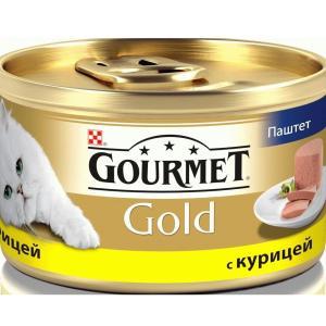 Корм для кошек Gourmet Gold, 85 г, курица