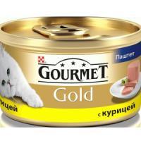Фотография товара Корм для кошек Gourmet Gold, 85 г, курица