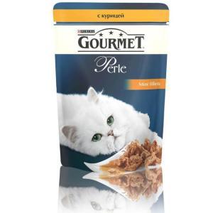 Корм для кошек Gourmet Perle, 85 г, курица