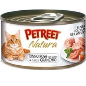 Консервы для кошек Petreet Natura, 70 г, розовый тунец с крабом сурими