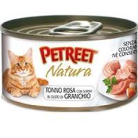 Фотография товара Консервы для кошек Petreet Natura, 70 г, розовый тунец с крабом сурими