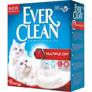 Наполнитель для кошачьего туалета Ever Clean Multiple Cat, 10 кг