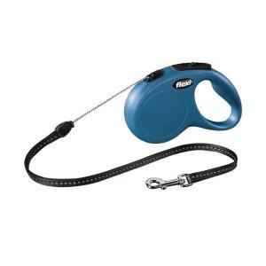 Поводок рулетка для собак Flexi New Classic S, синий