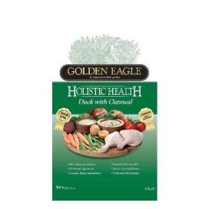 Корм для собак Golden Eagle Holistic Duck with Oatmeal 22/13, 12 кг, утка с овсянкой