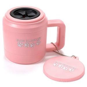 Маленькая лапомойка для собак Paw Plunger, розовая