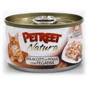 Консервы для кошек Petreet Natura, 70 г, куриная грудка с печенью