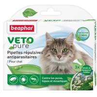 Фотография товара Капли от блох и клещей для кошек Beaphar Bio Veto Pure, 3 пип.