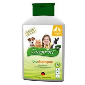Шампунь от блох и клещей для собак и кошек Green Fort, 400 мл