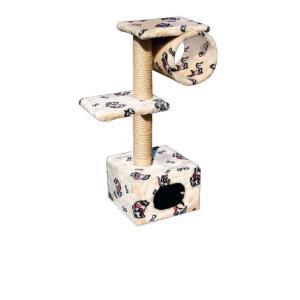 Домик-когтеточка для кошек Зооник, размер 40х36х98см.