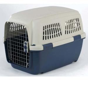 Переноска для собак и кошек Marchioro Clipper Cayman, размер 4, размер 71х50х51см., бежевый/синий