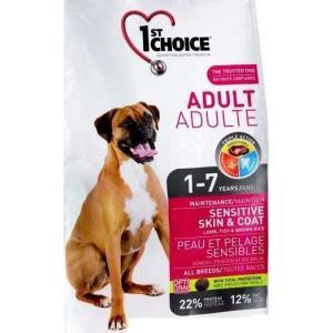 Корм для собак 1st Choice Sensitive skin &coat, 2.72 кг, ягненок с рыбой и рисом