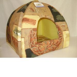 Домик для собак Бобровый дворик, размер 1, размер 39х39х35см., цвета в ассортименте