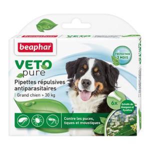 Капли от блох и клещей для собак крупных пород Beaphar Veto Pure, 6 пип.