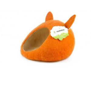 Домик для животных Zoobaloo Уютное гнездышко, размер 40х40х20см., оранжевый