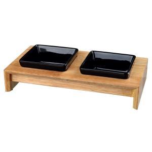 Миски для собак и кошек Trixie Bowl Set, 400 мл, размер 36x19x7см., черный