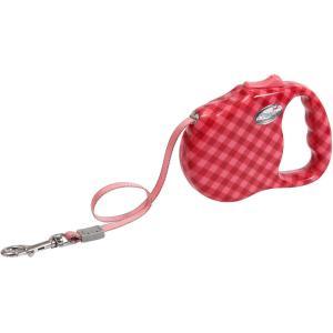 Поводок для собак Freego Клетка Диагональ M, красный