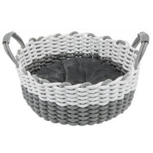 Лежак для собак и кошек Trixie Nabou, размер 45см., серый / белый