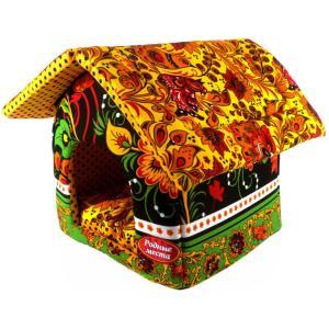 Домик для собак и кошек Родные Места Хохлома, размер 32x33x36см.