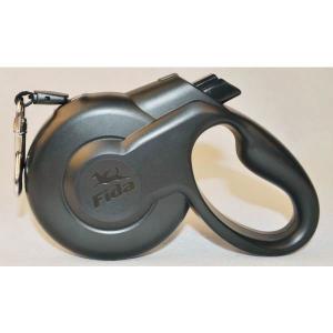 Поводок-рулетка для собак Fida Styleash, черный