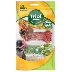 Лакомства для собак Triol, 25 г, сыромятная кожа, 4 шт.