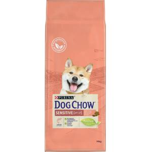 Корм для собак Purina Dog Chow Sensitive Adult, 14 кг, лосось, рис