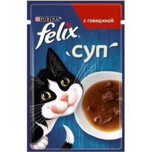 Корм для кошек Felix Суп, 48 г, говядина
