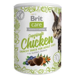 Лакомство для кошек Brit Care Superfruits Chicken, 120 г, курица