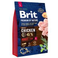 Фотография товара Корм для собак Brit Premium by Nature Adult L, 3 кг, курица