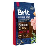 Фотография товара Корм для собак Brit Premium by Nature Adult L, 8 кг, курица