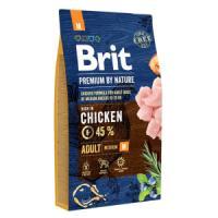 Фотография товара Корм для собак Brit Premium by Nature Adult M, 8 кг, курица