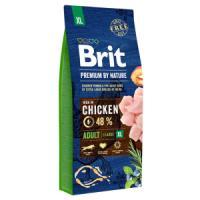 Фотография товара Корм для собак Brit Premium by Nature Adult XL, 15 кг, курица