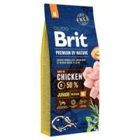 Фотография товара Корм для щенков Brit Premium by Nature Junior M, 15 кг, курица