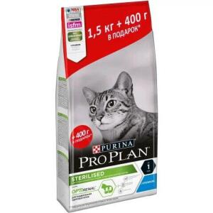 Корм для кошек Pro Plan Sterilised, 1.9 кг, кролик
