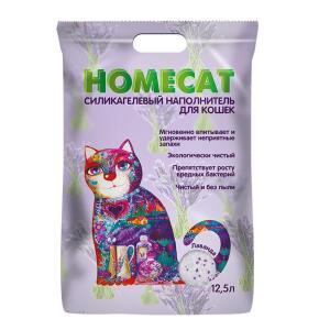 Наполнитель для кошачьего туалета Homecat Лаванда, 5.07 кг, 12.5 л
