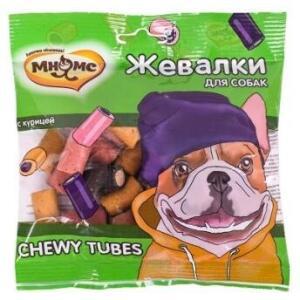 Лакомство для собак Мнямс Chewy Tubes, курица