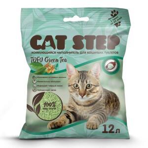 Наполнитель для кошачьих туалетов Cat Step Tofu Green, 5.45 кг, 12 л