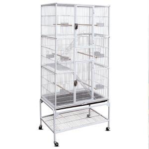Клетка для птиц Triol 5005W, размер 81x47x176см., белый