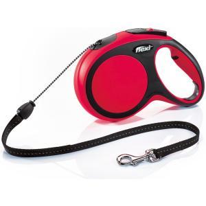 Поводок-рулетка для собак Flexi New Comfort M Cord, красный