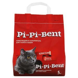 Наполнитель для кошачьего туалета Pi-Pi Bent Classic, 5 кг
