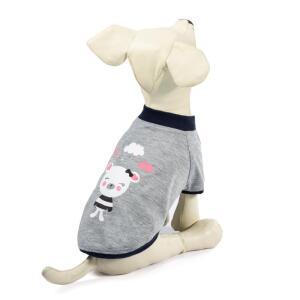 Футболка для собак Triol Тучка M, размер 30см., бежево-серый