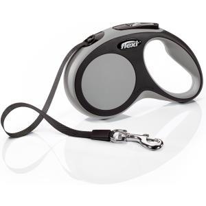 Поводок-рулетка для собак Flexi New Comfort S Tape, серый