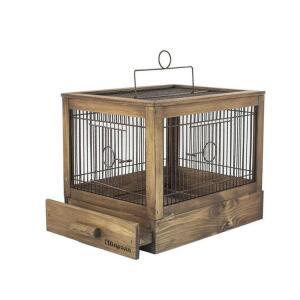 Клетка для птиц Дарэлл Ретро Кантри, размер 47.5х27х32см., палисандр