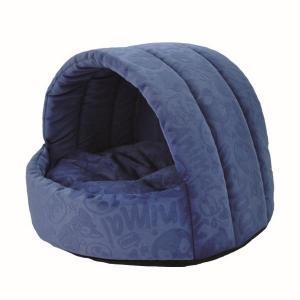 Домик для собак и кошек Homepet Велюр S, размер 38х35х27см., синий