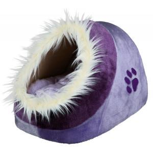 Домик для собак и кошек Trixie Minou, размер 41х35х26см., лиловый / фиолетовый