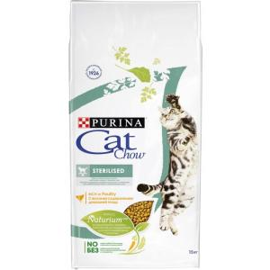 Корм для кошек Purina Cat Chow Sterilised, 15 кг, домашняя птица