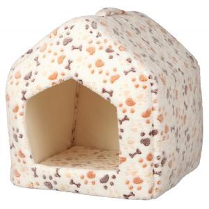 Домик для кошек и собак Trixie Lingo, размер 40x40x45см., белый / бежевый